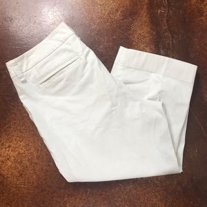 NWT Caslon for Encore 18W white denim capris
